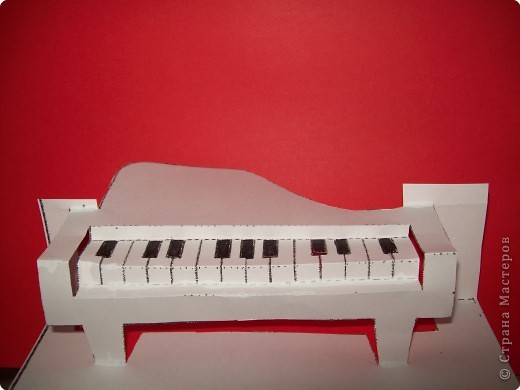 Рояля из бумаги своими руками 12