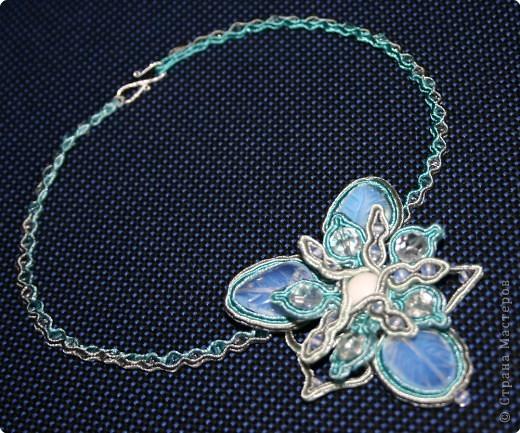 Шитьё: Сутаж - Ледяной цветок фото 1