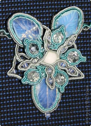 Шитьё: Сутаж - Ледяной цветок фото 2