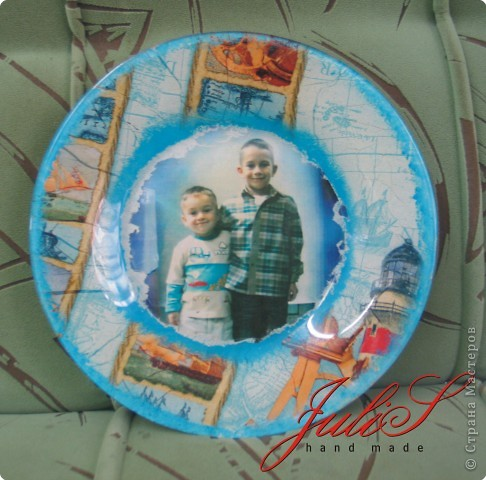 Это тарелка , каторую я сделала для мамы  ;-) надеюсь, что ей понравится!   фото 1