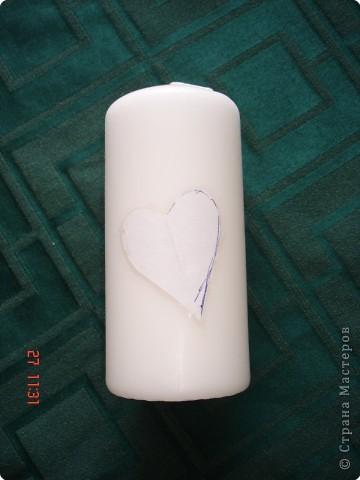 Решила поделиться с вами процессом изготовления свадебных свечей. Может кто подскажет другую технику выполнения, так как эта выбрана излюбленным русским способом - методом тыка! фото 3
