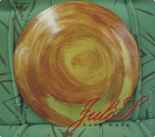 Это тарелка , каторую я сделала для мамы  ;-) надеюсь, что ей понравится!   фото 2