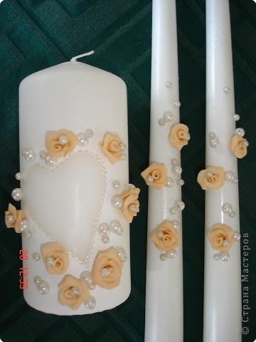 Решила поделиться с вами процессом изготовления свадебных свечей. Может кто подскажет другую технику выполнения, так как эта выбрана излюбленным русским способом - методом тыка! фото 6