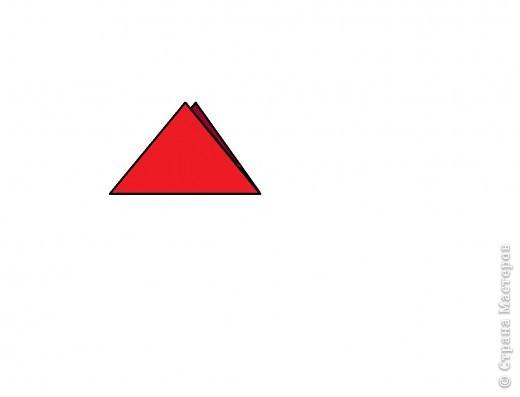 Берём квадрат и делаем базовою форму ТРЕУГОЛЬНИК. фото 1