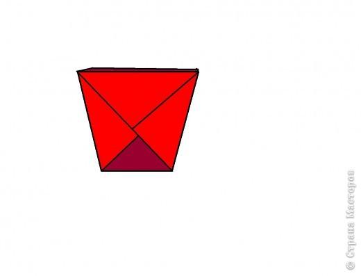 Берём квадрат и делаем базовою форму ТРЕУГОЛЬНИК. фото 4