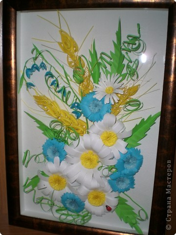 Квиллинг: Полевые цветы фото 1