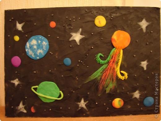 Космос поделки из пластилина