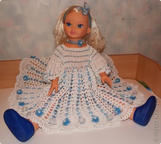 Крестильное платье крючком и вязаный чепчик для новорожденных ... . Метки: платье крючком крестильное платье крючком