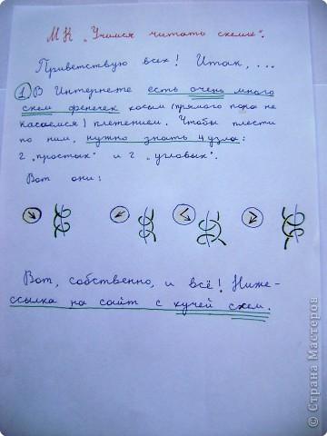 Учимся читать схемы Нитки