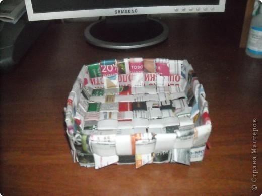 Плетение из картона фото 4