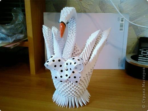 Лебеди модульное оригами своими руками