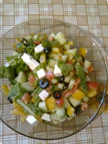 Рецепт кулинарный: Греческий салат.