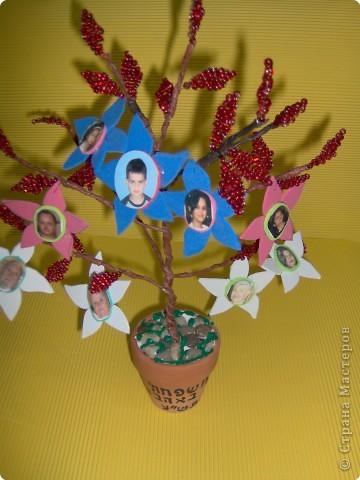 Коллективная работа Поздравление Выпускной День семьи Бисероплетение Моя семья Генеалогическое древо Бисер фото 6.