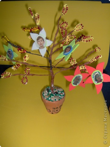 Коллективная работа Поздравление Выпускной День семьи Бисероплетение Моя семья Генеалогическое древо Бисер фото 7.