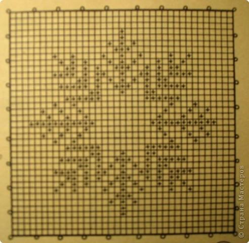 Вязание крючком: Зимняя салфетка фото 3