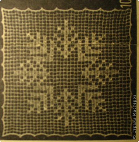 Вязание крючком: Зимняя салфетка фото 2