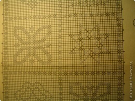 Вязание крючком: Зимняя салфетка фото 5