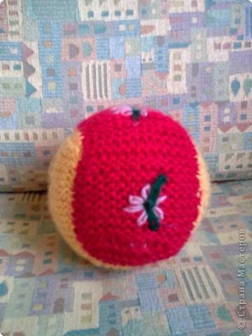 Вязание спицами: вязанный мячик) фото 1