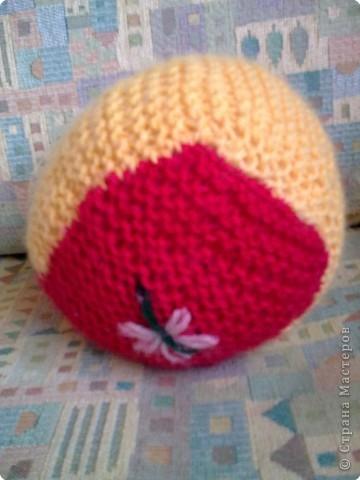 Вязание спицами: вязанный мячик) фото 2