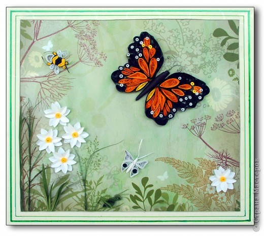 Как сделать картину из материала бабочек