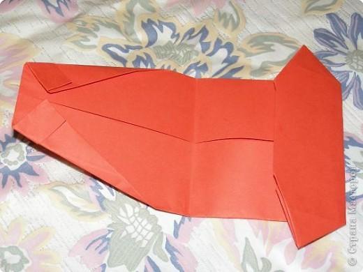Вот такую открытку-конверт предлагаю вам сделать(купюра в комплект не входит).Понадобится лист цветной бумаги. фото 8