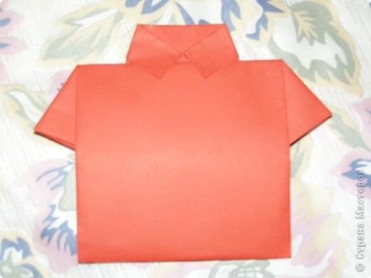 Вот такую открытку-конверт предлагаю вам сделать(купюра в комплект не входит).Понадобится лист цветной бумаги. фото 9