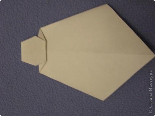 Вот такую открытку-конверт предлагаю вам сделать(купюра в комплект не входит).Понадобится лист цветной бумаги. фото 16