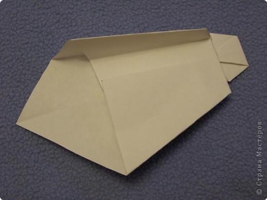 Вот такую открытку-конверт предлагаю вам сделать(купюра в комплект не входит).Понадобится лист цветной бумаги. фото 17