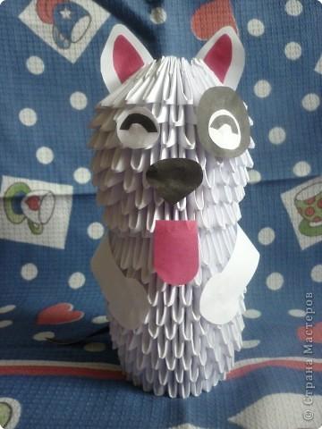 Оригами модульное: Собачка)