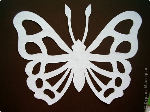 Вырезание симметричное - Мои бабочки трафареты.