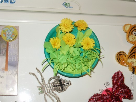 "Квиллинг: магнит на холодильник ""Одуваны"". фото 4"