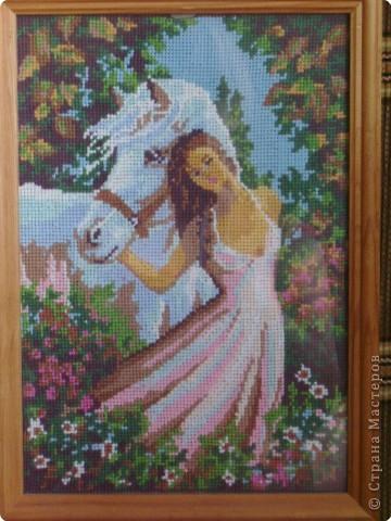 Девушка с лошадью Нитки