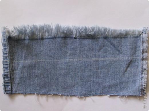Вырезание: Цветок из джинса №2+МК фото 2