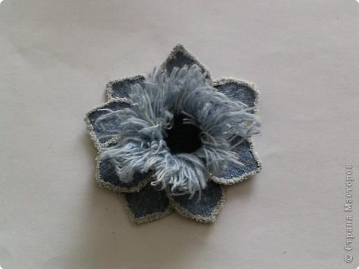 Вырезание: Цветок из джинса №2+МК фото 19