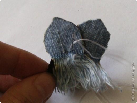 Вырезание: Цветок из джинса №2+МК фото 9