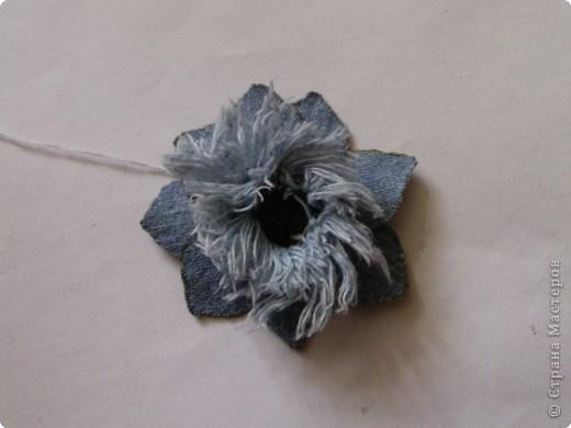 Вырезание: Цветок из джинса №2+МК фото 14