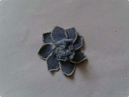 Вырезание: Цветок из джинса №2+МК фото 18