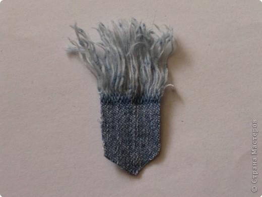 Вырезание: Цветок из джинса №2+МК фото 5