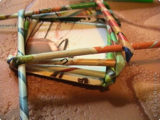 Мастер-класс Плетение КОСОЕ плетение МК Бумага газетная Бумага журнальная фото 13