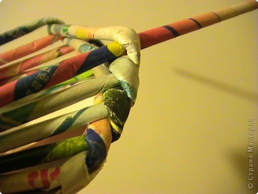 Мастер-класс Плетение КОСОЕ плетение МК Бумага газетная Бумага журнальная фото 8