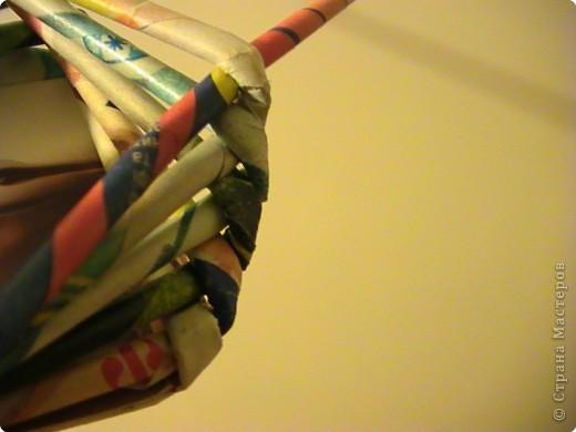 Мастер-класс Плетение КОСОЕ плетение МК Бумага газетная Бумага журнальная фото 7