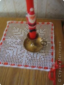 Вязание крючком: Зимняя салфетка фото 1