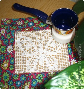 Вязание крючком: Летняя салфетка фото 1
