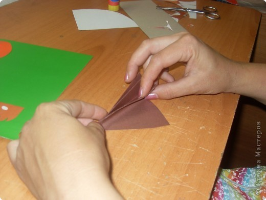 Аппликация из цветной бумаги мастер класс