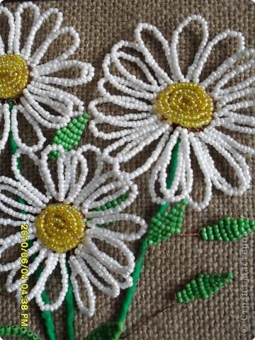 Уроки плетения ромашек из бисера Бисероплетение.