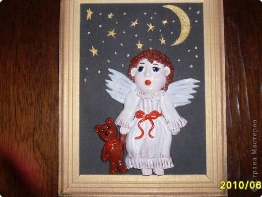 Муж сказал,что первый ангелочек даже лучше получился. Не выходят у мя лица... Эх! фото 1