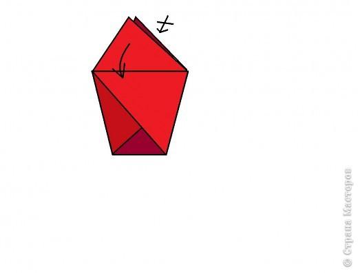 Берём квадрат и делаем базовою форму ТРЕУГОЛЬНИК. фото 3