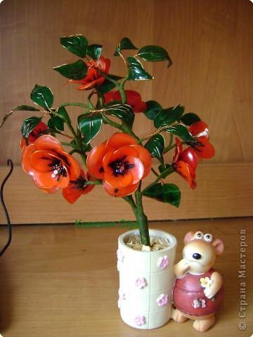 Витражные цветы МК фото 1