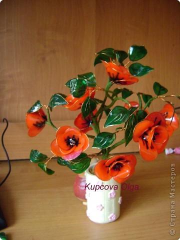 Витражные цветы МК фото 7