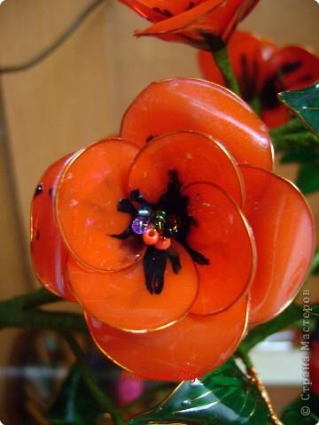 Витражные цветы МК фото 2